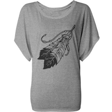 Feather Fashion Top