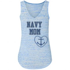 NAVY MOM BLUE TANK