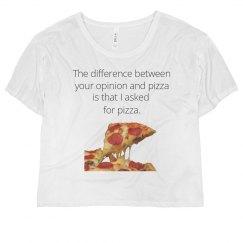 Pizza vs. Opinions