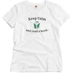 Keep Calm Read - w grey