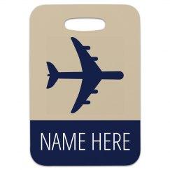 Custom Simple Travel Bag Tag