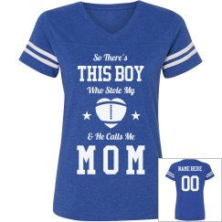 Custom Name/Number Football Mom