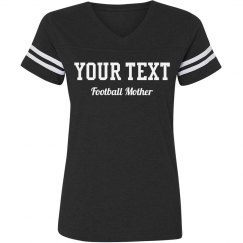 Custom Rhinestone Text Football