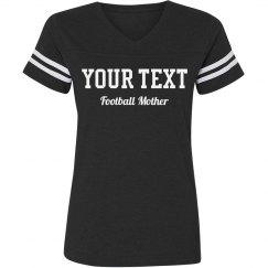 Custom Rhinestone Text Football