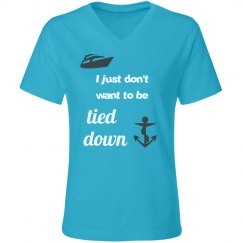 Tied Down - Women's V-Neck