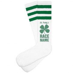 St Patty Custom Race Green Socks