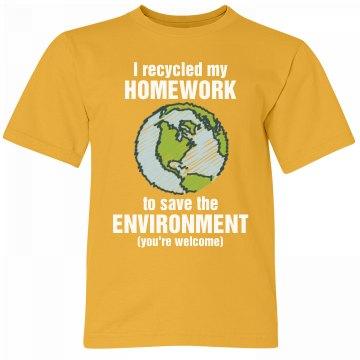 Go Green & Recycle Homework