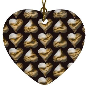 Gold Bubble Hearts