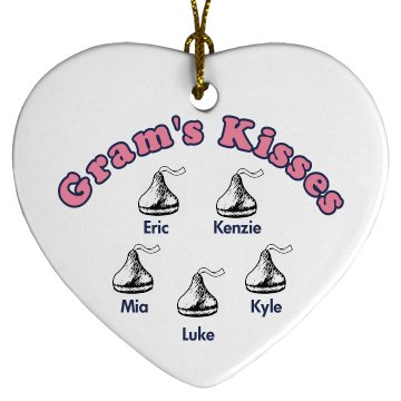 Gram's Kisses Ornament