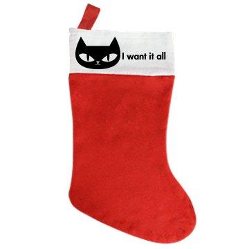 Greedy Christmas Cat