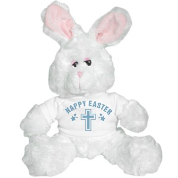 Happy Easter Cross Bunny Plush