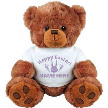 Happy Easter Custom Name Plush
