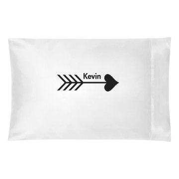 Heart Arrow Pillow Case