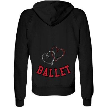 Heart Ballet Rhinestone