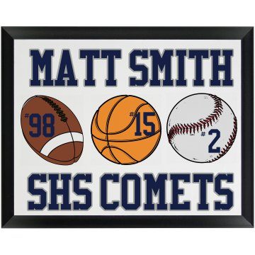 High School Sports Plaque