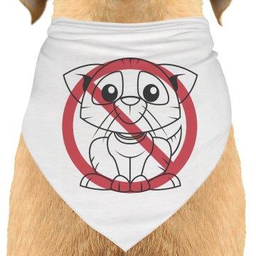 I Hate Cats Dog Bandana