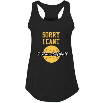 I have Softball Tank