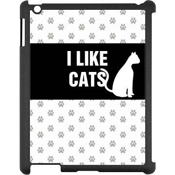 I Like Cats iPad Case
