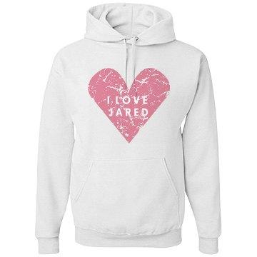 I Love Jared Heart