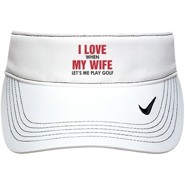 I Love My Wife Golf Gift
