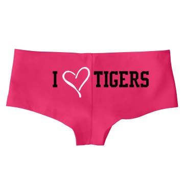 I Love Tigers Panties