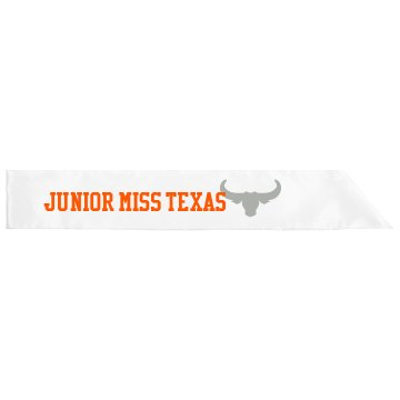 Junir Miss Texas Sash