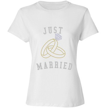 Just Married Shirt with Rings