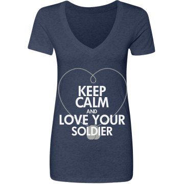 Keep Calm Love Soldier