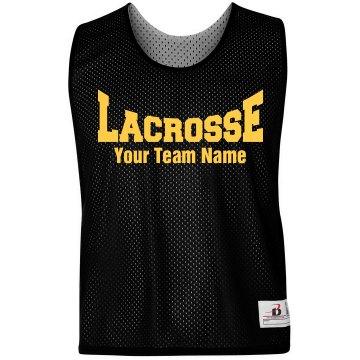 Lacrosse Logo Custom Team Name Practice Pinnie