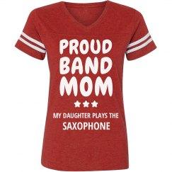 Proud Saxophone Band Mom