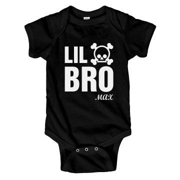 Lil Bro Skull Onesie