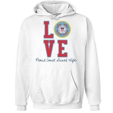 Love Coast Guard Hoodie