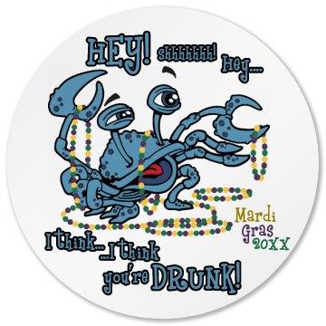 Mardi Gras Drunk Crab