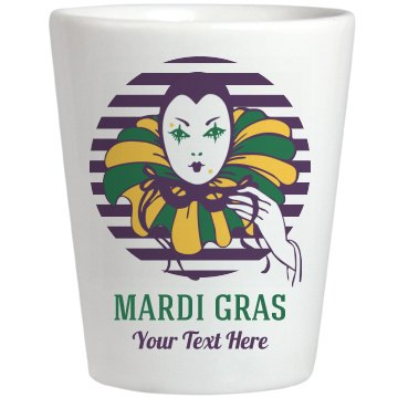 Mardi Gras Mask Shot