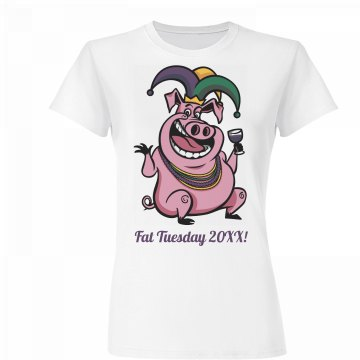 Mardi Gras Party Pig