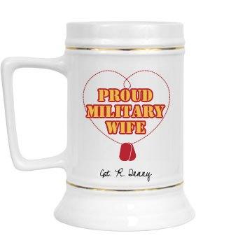 Military Wife Stein