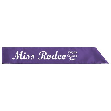 Miss Rodeo Sash