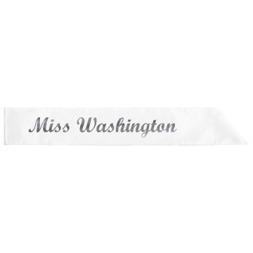 Miss Washington Glitter Sash