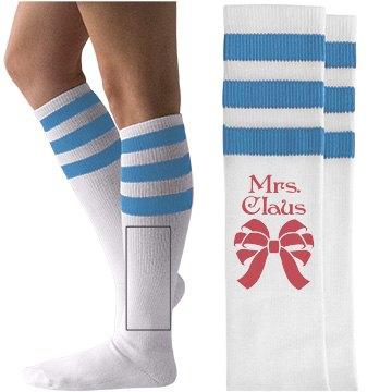 Mrs. Claus Socks