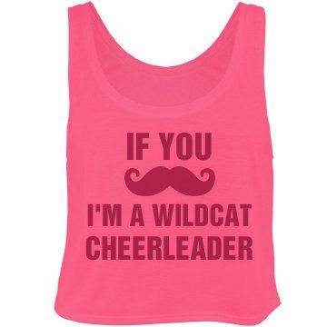 Mustache Cheerleader
