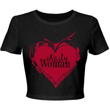 Nasty Woman Art Heart