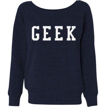 Navy Geek Wide Neck