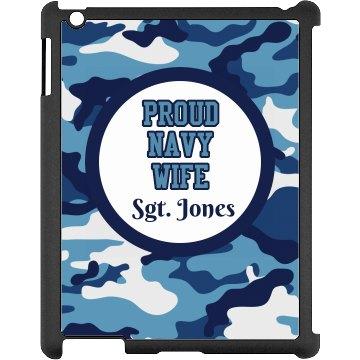 Navy Wife iPad Case