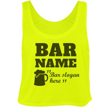 Neon Bar Name With Slogan