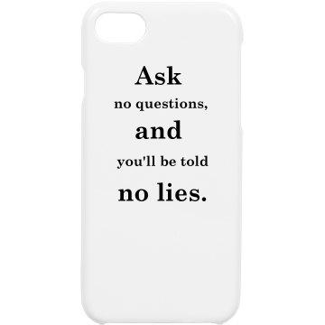 No Lies iPhone Cases