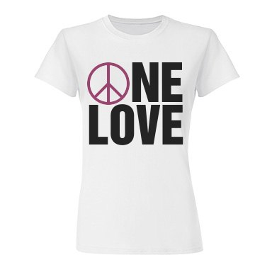 One Love Peace Sign
