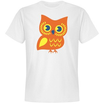 Owl t-shirt: glitzy and glam