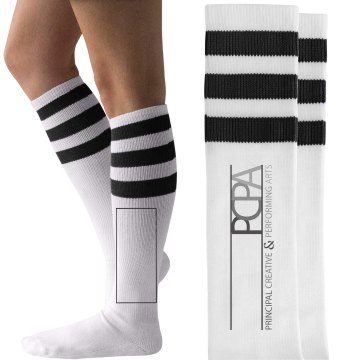PCPA - Blk & Wht Striped Socks