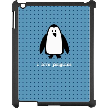 Penguin Love iPad Case