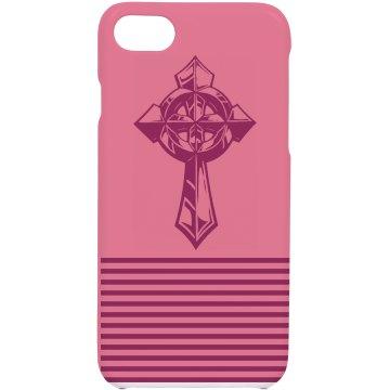 Pink Cross iPhone Case